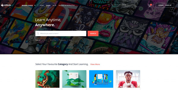 Skillate 1.1.0 - WordPress eLearning Theme