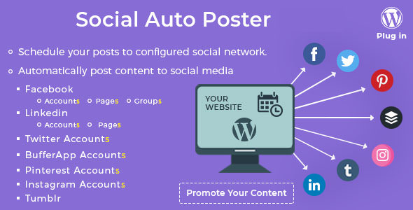 Social Auto Poster 3.8.4 - WordPress Plugin