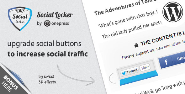 Social Locker for WordPress 5.6.2 Nulled