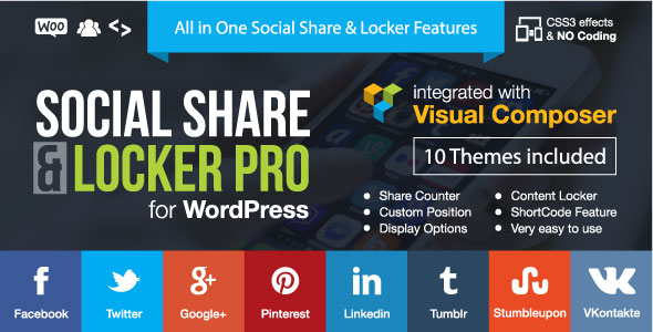 Social Share & Locker Pro WordPress Plugin 7.7 Nulled