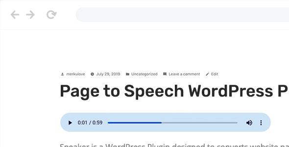 Speaker 3.0.8 - Page to Speech Plugin for WordPress