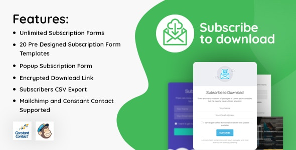 Subscribe to Download 1.1.2 - An advanced subscription plugin for WordPress