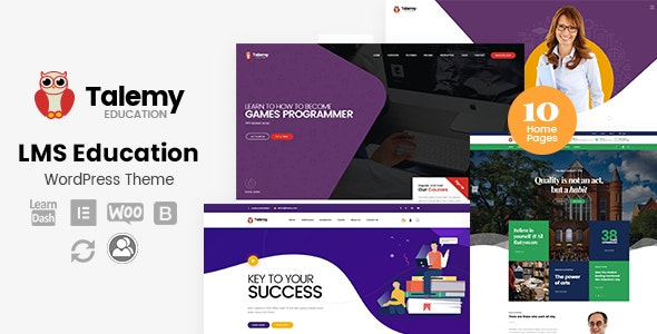 Talemy 1.2.1 - LMS Education WordPress Theme