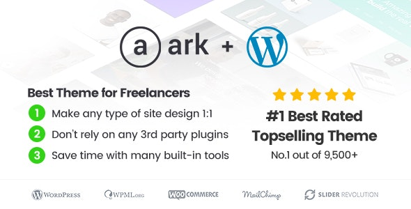The Ark 1.48.0 - WordPress Theme made for Freelancers