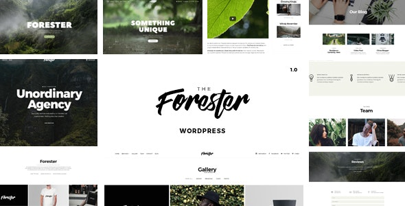 The Forester 1.4.7 - Elementor Portfolio WordPress Theme