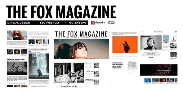The Fox 4.4.4.2 - Minimal Blog/Magazine Theme For Creators