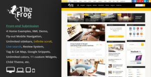 The Frog 3.6 - Creative News / Blog Magazine & Front-end Submission WP Theme