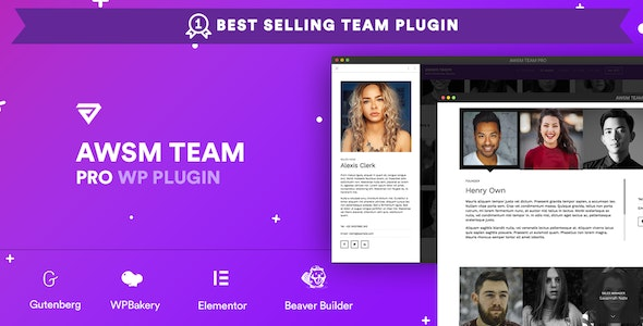 AWSM Team Pro 1.8.1 - Team Showcase WordPress Plugin