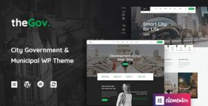 TheGov 1.0.13 Nulled - Municipal and Government WordPress Theme