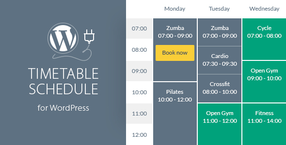 Timetable Responsive Schedule For WordPress v6.3
