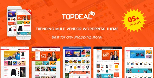 TopDeal 1.7.6 Nulled - Multi Vendor Marketplace WordPress Theme