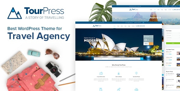 TourPress 1.1.7 - Travel Booking WordPress Theme