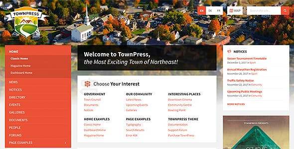 TownPress 3.5.0 - Municipality WordPress Theme