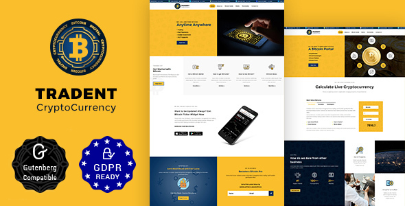 Tradent 1.6 - Cryptocurrency, Bitcoin WordPress