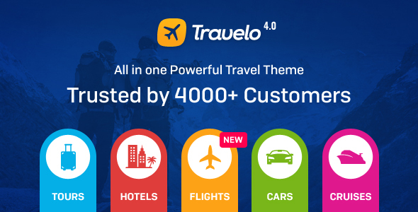 Travelo 4.0.9 - Travel/Tour Booking WordPress Theme