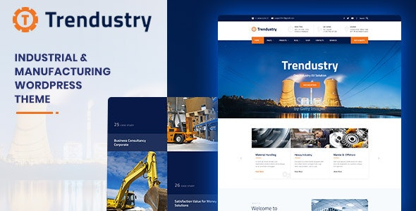 Trendustry 1.0.6 - Industrial & Manufacturing WordPress Theme