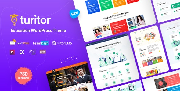 Turitor 1.2.3 - LMS & Education WordPress Theme