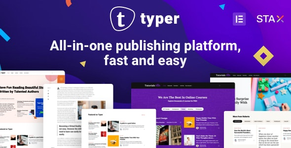 Typer 1.9.2 Nulled - Amazing Blog and Multi Author Publishing Theme