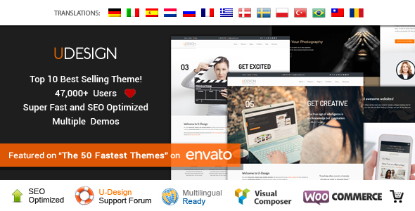uDesign 3.2.0 - Responsive WordPress Theme