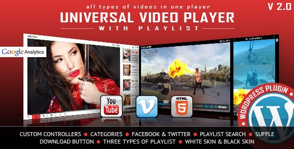 Universal Video Player 3.3.4 - WordPress Plugin