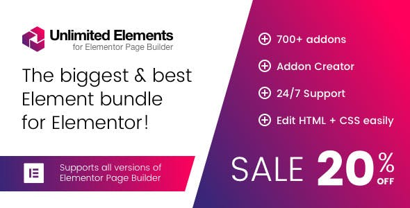 Unlimited Elements for Elementor Premium 1.4.43 Nulled