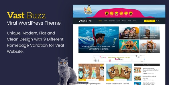 Vast Buzz 1.1.4 - Viral Magazine WordPress Theme