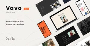 Vavo 2.2.1 - An Interactive & Clean Theme for Creatives