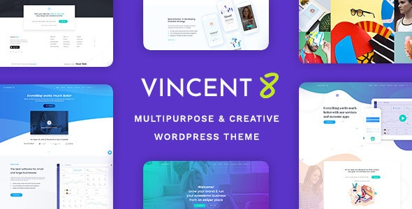 Vincent Eight 1.5 - Responsive Multipurpose WordPress Theme