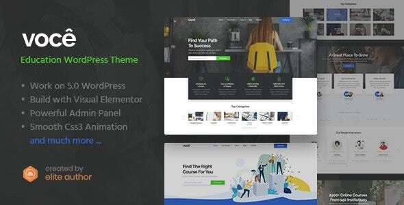 Vocee - Education & LMS WordPress Theme