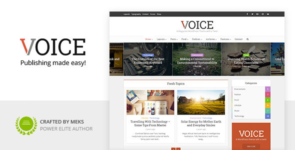 Voice 2.9.1 - Clean News/Magazine WordPress Theme