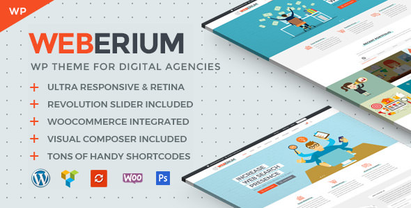 Weberium 1.11 - Responsive WordPress Theme