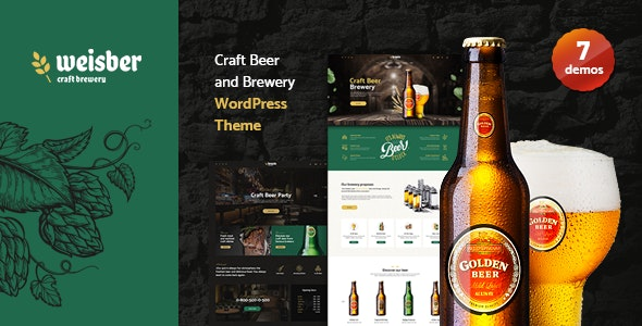 Weisber 1.1.3 - Craft Beer & Brewery WordPress Theme