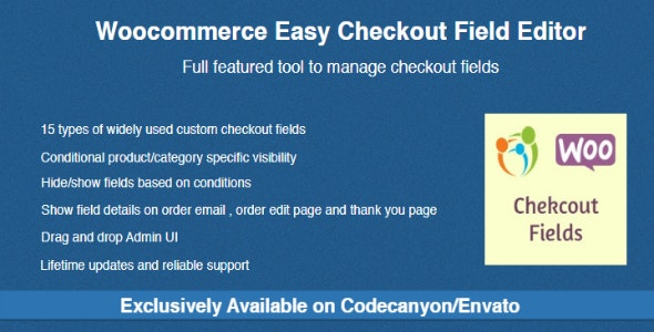 Woocommerce Easy Checkout Field Editor 2.1.3