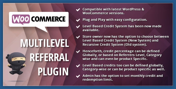 WooCommerce Multilevel Referral Affiliate Plugin 2.15 Nulled