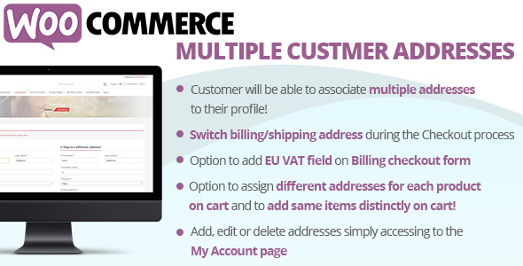 WooCommerce Multiple Customer Addresses 17.9