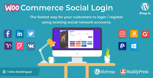 WooCommerce Social Login 2.10.0 Nulled