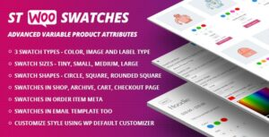 WooCommerce Swatches 1.1.1 (Color, Image and Label Swatch)