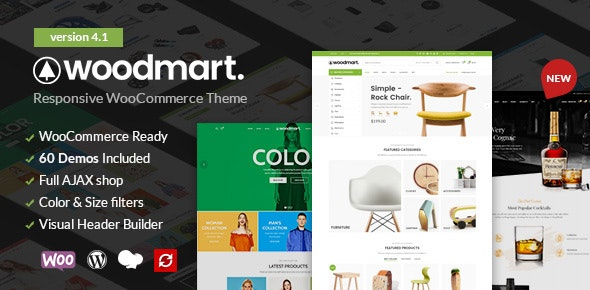 WoodMart 5.2.0 Nulled - Responsive WooCommerce WordPress Theme