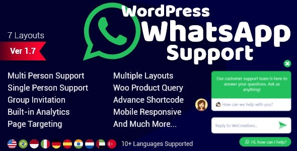 WordPress WhatsApp Support 1.9.8 Nulled