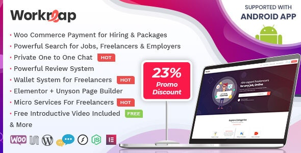 Workreap 1.6.7 - Freelance Marketplace and Directory WordPress Theme