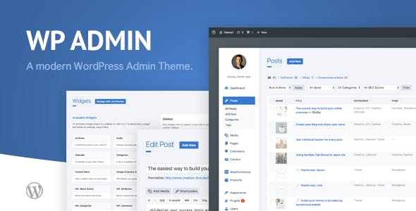 wphave Admin 2.2 Nulled - A clean and modern WordPress Admin Theme