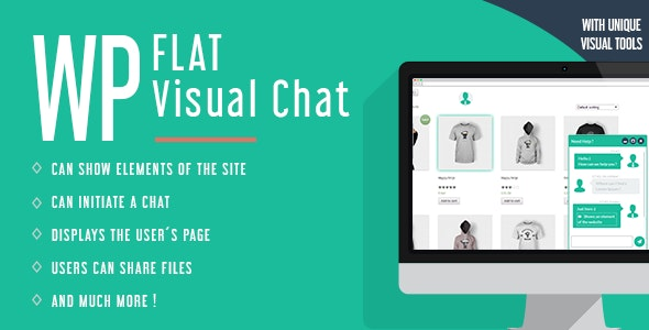 WP Flat Visual Chat 5.391 - Live Chat & Remote View for WordPress