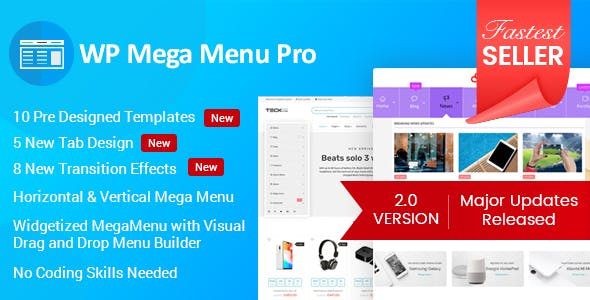 WP Mega Menu Pro 2.1.4 - Responsive Mega Menu Plugin for WordPress