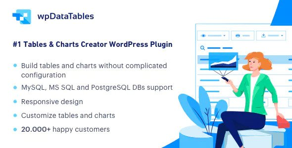 wpDataTables 3.0.3 (+Addons) - Tables and Charts Manager for WordPress