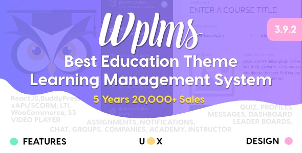 WPLMS 3.9.6 - Learning Management System for WordPress Theme