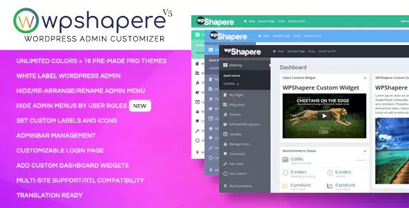 WPShapere 6.1.7 Nulled - WordPress Admin Theme