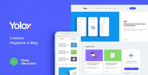 Yolox 1.0.1 (Nulled) - Modern WordPress Blog Theme for Business & Startup