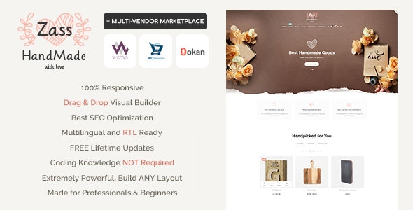 Zass 3.7.7 - WooCommerce Theme for Handmade Artists and Artisans