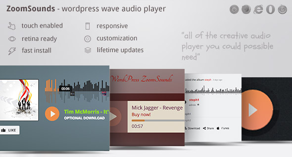 ZoomSounds 4.64 - WordPress Audio Player