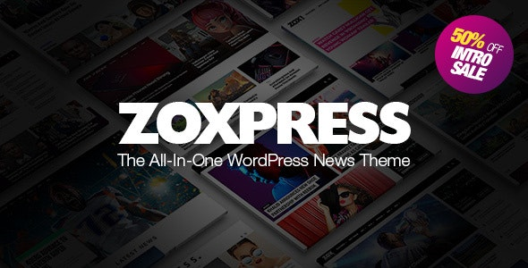 ZoxPress 1.08.0 - All-In-One WordPress News Theme